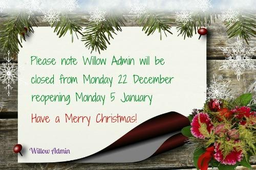 Willow Admin - Xmas FB Closed 2014
