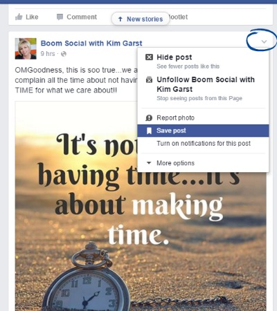 Save Articles on Facebook