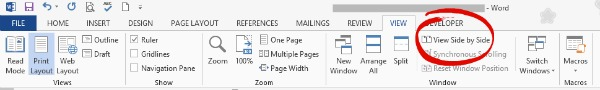 View Word documents Side by Side