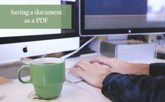 Saving a Word document as a PDF