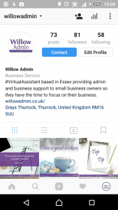 Willow Admin Instagram