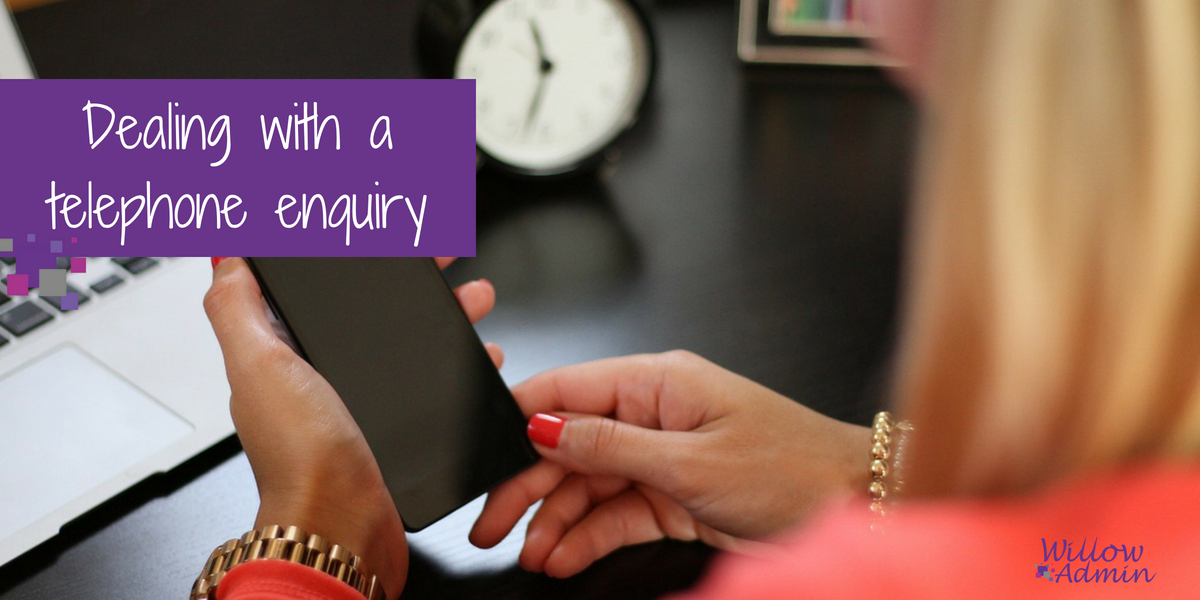 dealing-with-telephone-enquiry
