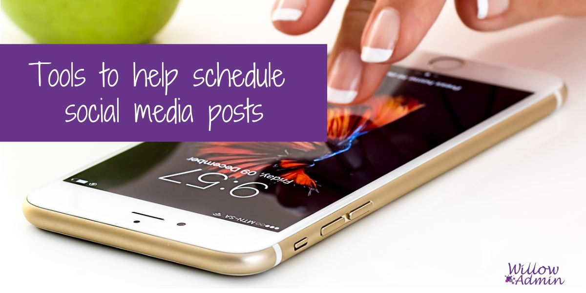 Tools to help schedule social media posts