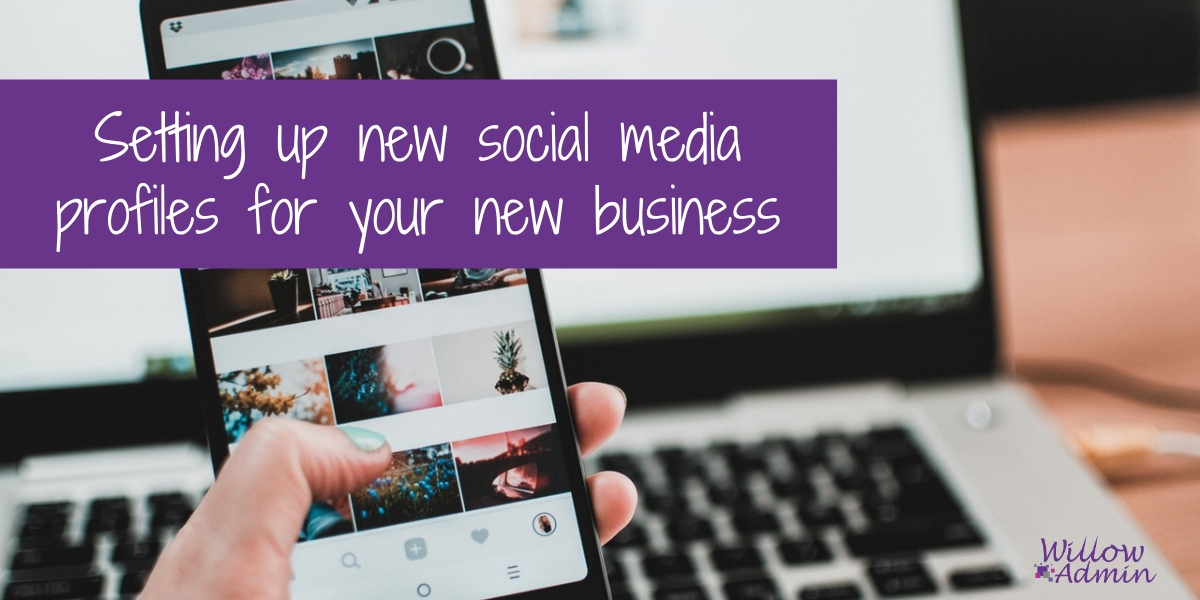 Setting up new social media profiles for your business